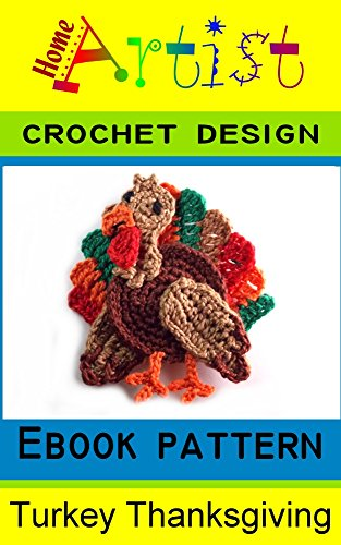 Turkey Thanksgiving crochet Applique Pattern