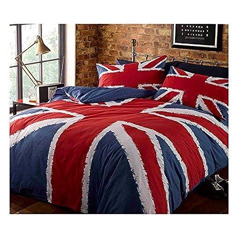 Copripiumino Matrimoniale Bandiera Inglese.Catherine Lansfield Copripiumino Reversibile 1 Piazza E Mezza Blu London Bandiera Inglese