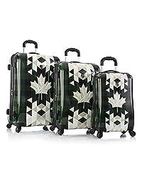 Canada Heys Geometric Fashion Spinner® 3pc.Set - Lightweight Hard Side Suitcase - 5 Years Warranty