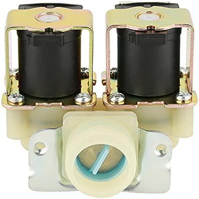Válvula solenoide de entrada de agua, DN20 G3 / 4 DC 12V Válvula ...