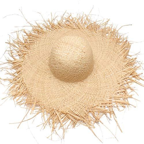 CGXBZA Women Summer Sun Hat with A Large Brim Ladies Raffia Straw Hat Fringe Big Beach Hats for Holiday Sombrero