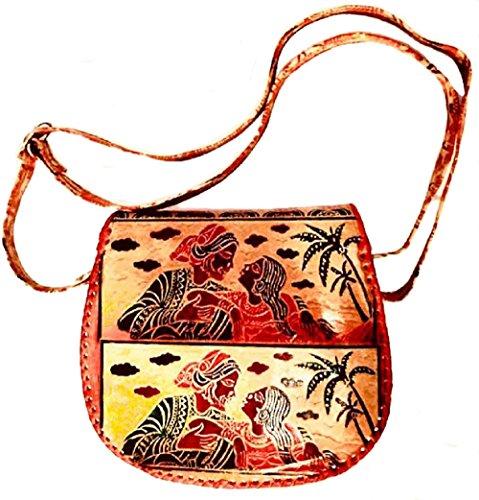 Design 100 Lovers sac cuir ethnique Round ShantiNiketan Sling WACxw80rqC