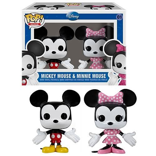 [UK-Import]Funko Mickey and Minnie Mouse Mini Pop  Vinyl Figures 2 Pack
