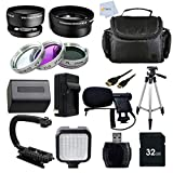 Advanced Accessory Package for Sony HDR-PJ580V HDR-PJ50V CX160 CX360V CX550V CX560V CX580V HDR-HC9 HDR-PJ10 HDR-CX700V HDR-PJ30V PJ260V PJ580V XR160 XR260V HD Handycam Camcorder