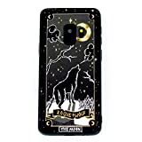 Rogue + Wolf Moon Tarot Card Phone Case with Metallic Gold Mirror Details Compatible with Galaxy S9 Cases Wiccan Goth