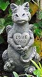 Little Darling Dragon Baby 'Heart' - Solid Cast Stone Garden Statue - a Great Home or Garden Idea - Durable, Lifelike Sculpture - Fun Exterior and Interior Art