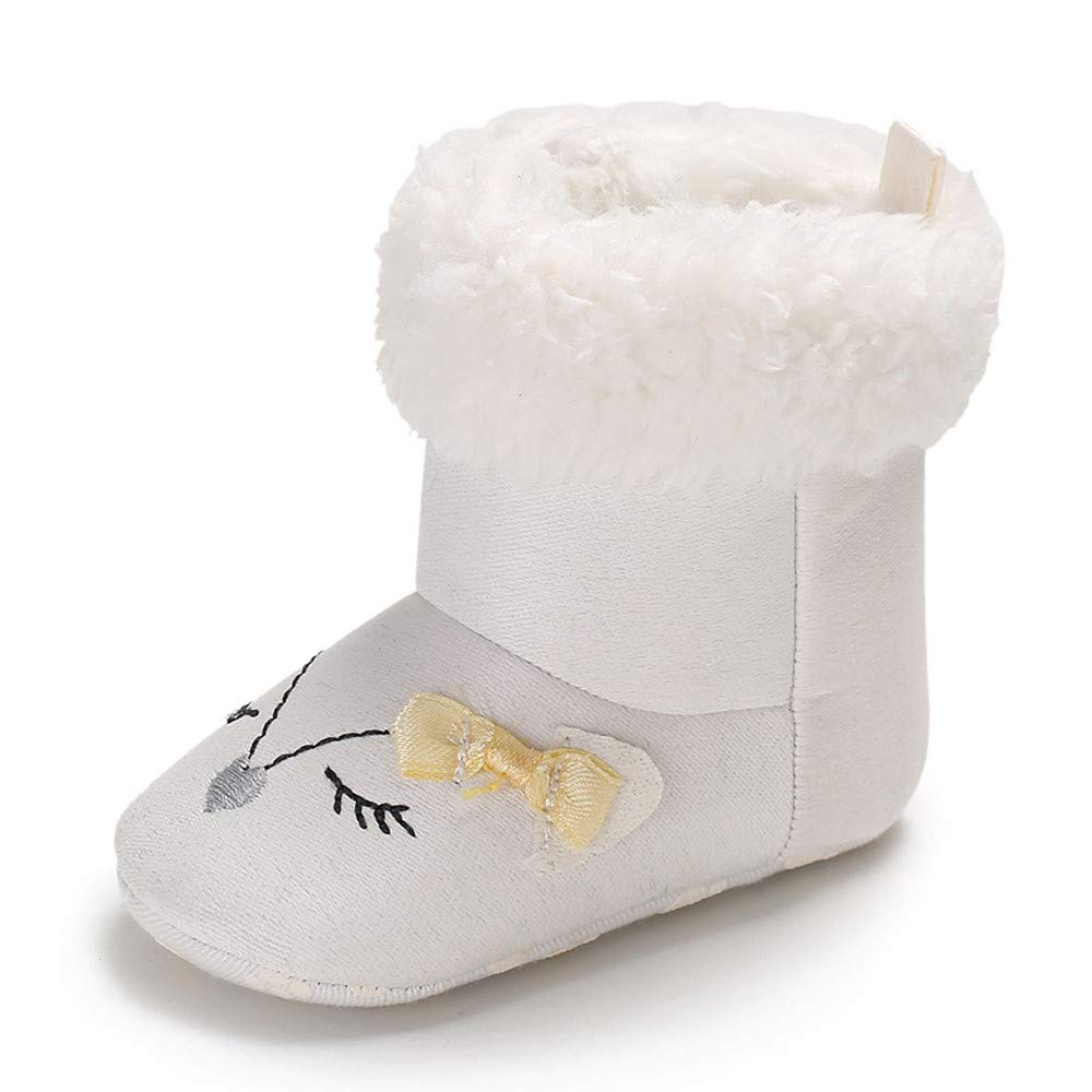Infant Newborn Baby Boys Girls Cartoon Crib Winter Boots Prewalker Warm Shoes