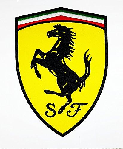 XXL BIG Ferrari Motorsport Racing Team patch Motorcycles symbol Biker jacket vest large Embroidered Iron on Hat Hoodie Backpack Ideal for Birthday - Ferrari Symbol
