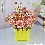 SituMi Artificial Fake Flowers HomeThe Decor,PlasticFenceCalla LilyOrange