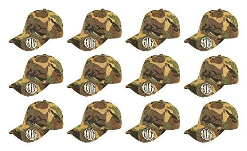 ( Pack of 12 ) Classic Premium Baseball Cap Adjustable Velcro Plain Hat Profile For Unisex Men Women ( Structured ) (Structured Adjustable Baseball Hat)
