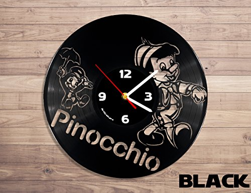 Pinocchio disney vinyl record wall clock