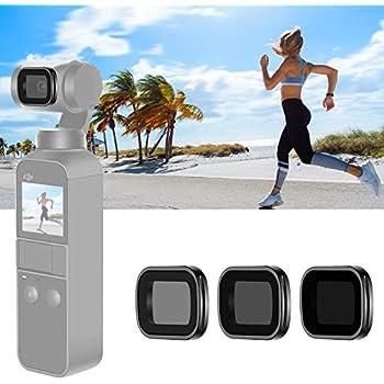 Neutral Density Lens Filter for Photography ND1000//ND400//ND64 Lens Filter Fit for DJI Osmo Pocket Camera Runshuangyu Set of 3