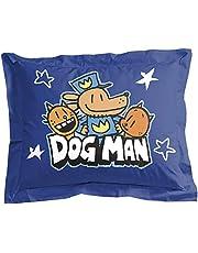 Jay Franco Dog Man Supa Buddies 1 Single Sham - Kids Super Soft Bedding (Official Dog Man Product)
