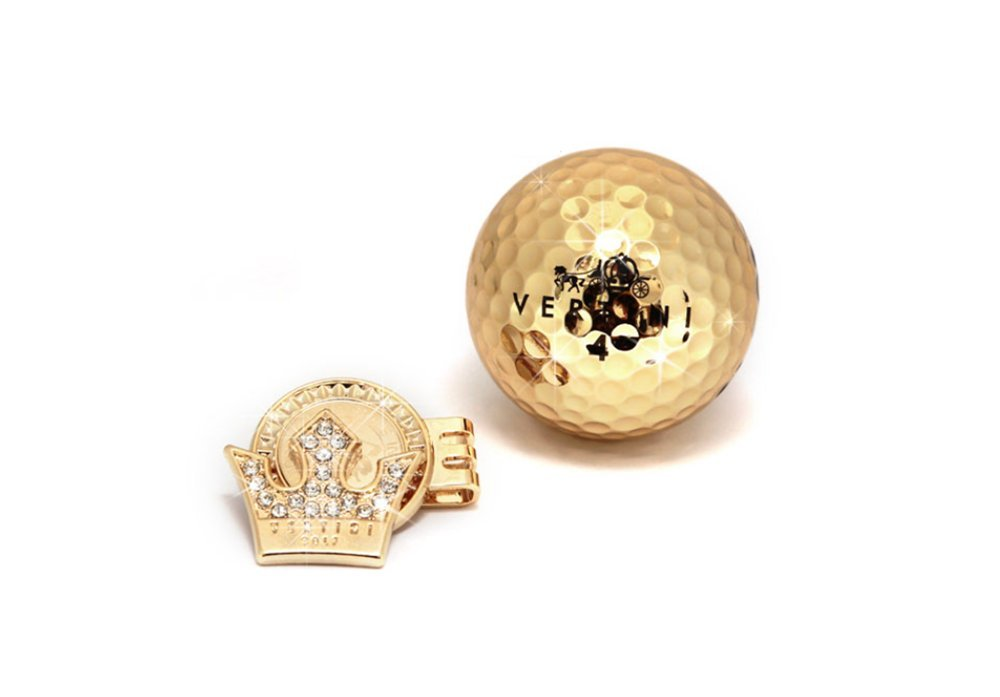 Vertini 24K Gold PT. Premium Golf Ball Set/High Visibility, High-Performance Long Distance Golf Balls/Luxury and Fashionable Golf Accessory, Gifts for Men, Women