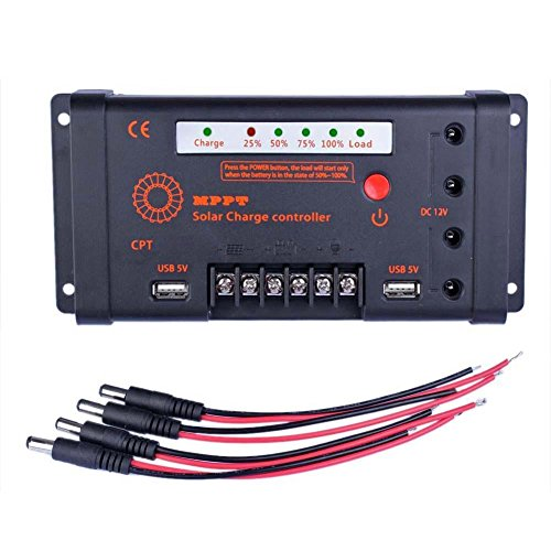 Sun YOBA MPPT Solar Charge Controller Solar Controller 10A 12V/24V 100V Input & DC USB by Sun YOBA