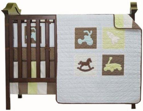Kidsline Mod Pod Pop Toys 4-Piece Crib Bedding Set by KidsLine