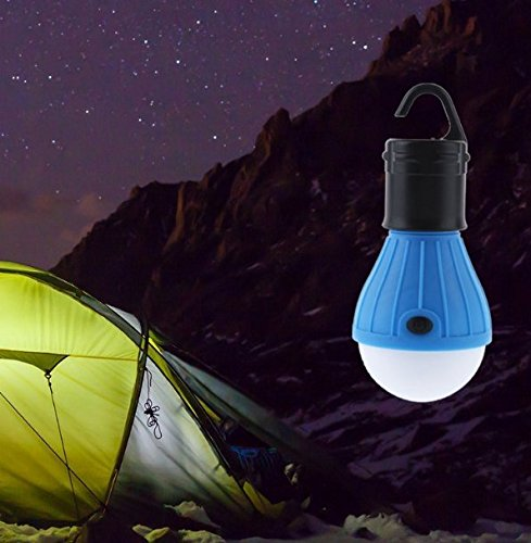 2 Pack Portable LED Lantern Tent Light Bulb for Camping Hiking Fishing Emergency Light, Battery Powered Camping Lamp with 6 AAA Batteries … (20)