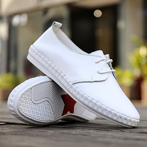 Shoes Flats Color Comfort White Cut Casual Synthetic Low Women's up Lace TDA Pure PwxOB