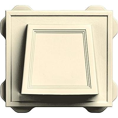 "Builders Edge 140116774020 4"" Hooded Dryer Vent 020, Heritage Cream"