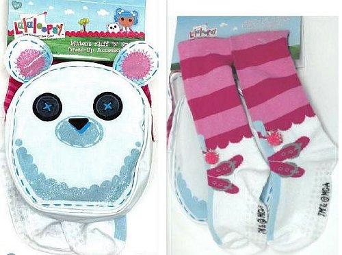 Lalaloopsy Mittens Fluff n Stuff Dress-Up Set Socks and Purse, Baby & Kids Zone