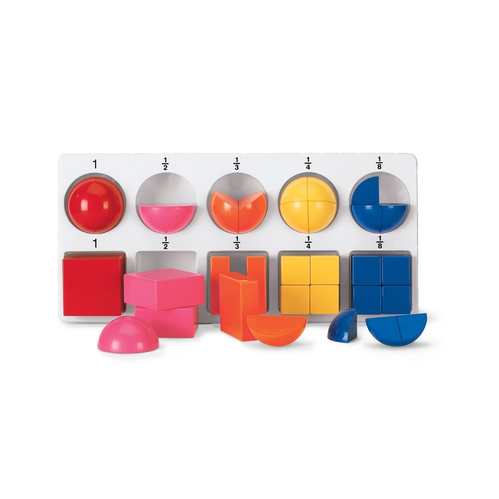fraction cubes spheres magnetic classroom math center set