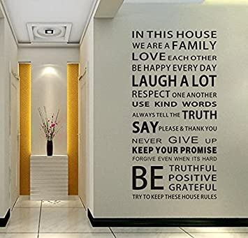 emiracleze christmas gift we are family quote english letter removable mural wall stickers wall decal for