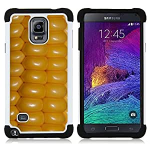 GIFT CHOICE / Defensor Cubierta de protección completa Flexible TPU Silicona + Duro PC Estuche protector Cáscara Funda Caso / Combo Case for Samsung Galaxy Note 4 SM-N910 // Yellow Farming Country Field Crop //