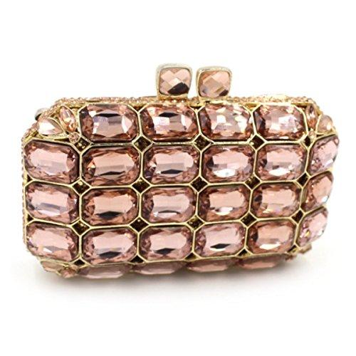 Femmes De Pour Gold En Sac De Diamant Manche Soirée En à Luxe Diamant Sac YxTRq0Iwg