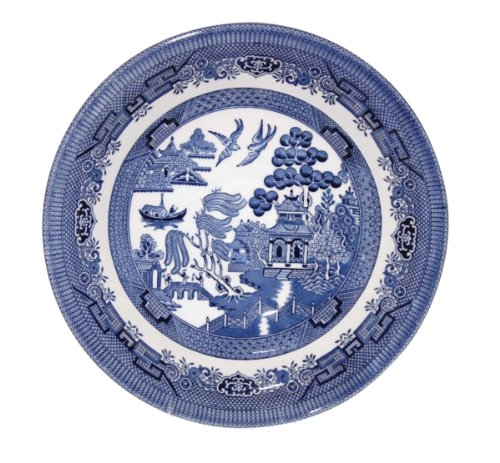 (Churchill Blue Willow Coupe Soup Bowl 8