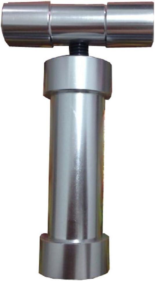 Heavy Duty T-Bar Stainless Steel Pollen Press Compressor 14mm Diameter Herb CNC Powder Press