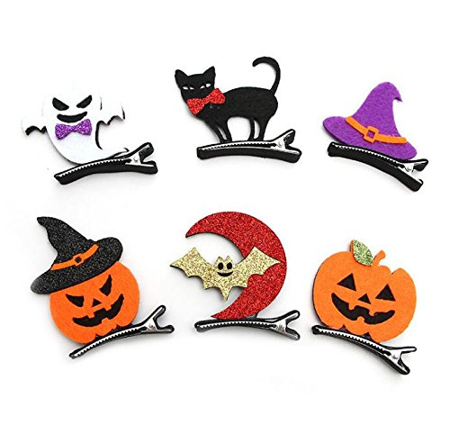 Royarebar Diverse Styles Hair Decorations 6PCS Funny Hair Clip Toddler Hairpin Child Hair Clip Halloween Party Decorations by Royarebar