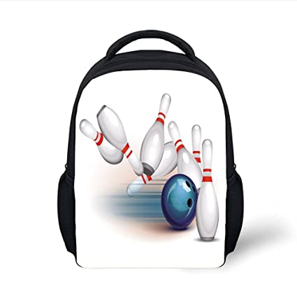 Amazon com: iPrint Kids School Backpack Bowling Party