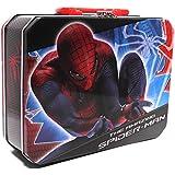 1 X Lunch Box - Marvel - Spiderman - Metal Tin Case w/Plastic Handle & Clasp