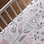 Lolli-Living-100-Cotton-Crib-Fitted-Sheet-Sparrow-Pattern-Ultra-Soft-Fitted-Crib-Sheets-Standard-Size