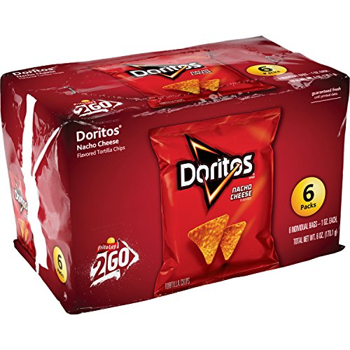 Doritos Nacho Cheese Flavored Tortilla Chips, 6 Singles