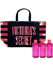 Victoria's Secret Gift Set Bombshell Wild Flower Mist & Tote Bag 4 Piece Combo