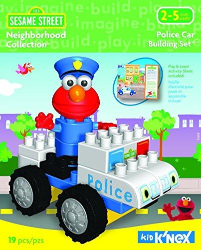 Sesame Street Neighborhood Collection Police Car - Kid Knex Elmo