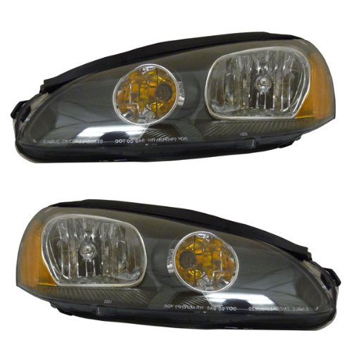 2003-2004-2005 Dodge Stratus 2-Door Coupe SE R/T SXT Headlight Headlamp Halogen Composite Front Head Lamp Light Set Pair Left Driver AND Right Passenger Side (03 04 05)