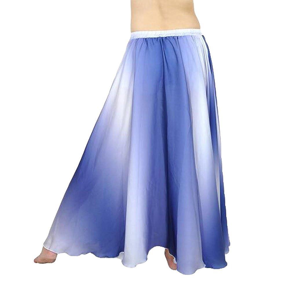 YuanDian Donne Gradiente di Colore Danza del Ventre Swing Gonna Professionali Moderna Danza Abiti Belly Dance Costume