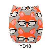 Alva Baby New Printed Design Reuseable Washable Pocket Cloth Diaper Nappy + 2...