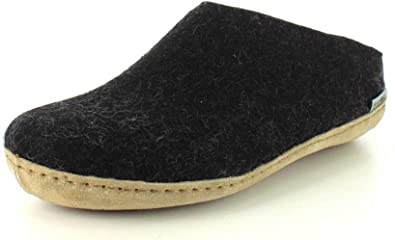Ladies leather slippers warmed ***EU HAND MADE PRODUCT*** size 4