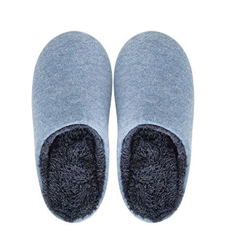 de confort bleu Chaussons pour 2 Pantoufles hommes Pq6wtZI