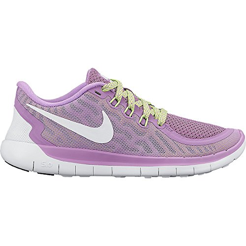 online store 26d79 a55dd Galleon - Nike Girls Free 5.0 Running Shoe (GS) Fuchsia  GlowBlackVoltWhite Size 6.5 M US