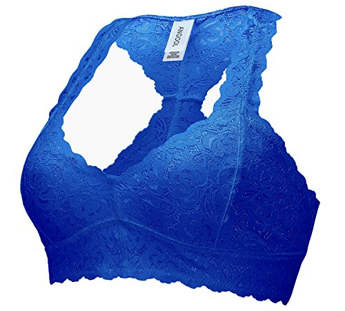 Lace Bra Angool Womens spalline Top Everyday senza Bralette Navy Crop Underwired pggdafwxqO