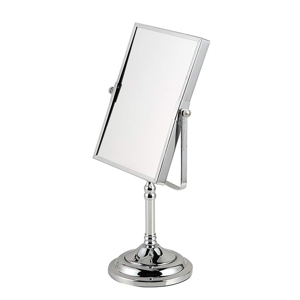 両面長方形の化粧鏡8インチ化粧台金属クロームミラーミラー回転高精細   B07QST7MY6