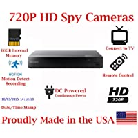 SecureGuard Blu-Ray Player 720P Spy Camera SD Card DVR Self Recording Spy Nanny Camera