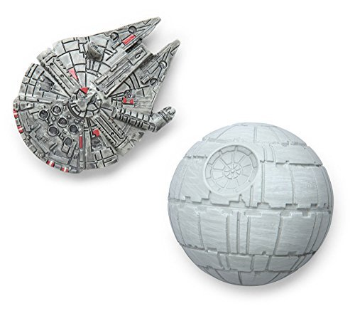 Star Wars Magnet Set - Millenium Falcon & DeathStar - by ThinkGeek