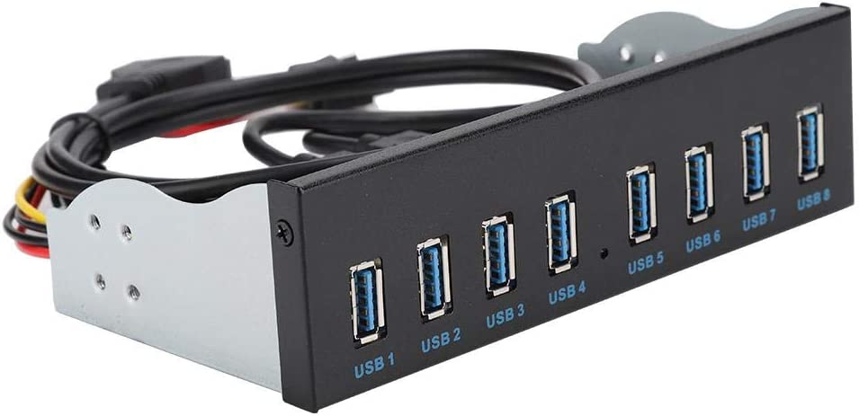Extension Front Panel Redxiao Practical 8 Ports USB3.0 Durable USB Front Panel Computer for PC