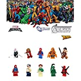 ABG toys Mini Figurines MARVEL DC COMICS Avengers Super Heroes Spider-Girl, Sand Man, Spider-Man, Hobgoblin, Scarlet Spider, Stan Lee, Scorpion, Kraven The Hunter, Spider Gwen, Deadpool Minifigure Series Building Blocks Sets Toys