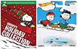 Peanuts Snoopy's Holiday Collection with Hot Wheels Pop Culture Winter Christmas Rolling Thunder Die-Cast 1:64 Car Bundle